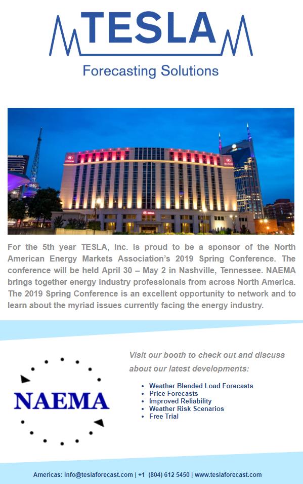 2019 NAEMA Spring Conference   TESLA